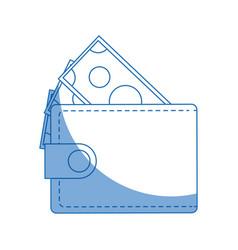 wallet bill money cash economy image vector image