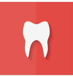 Tooth web icon flat design vector