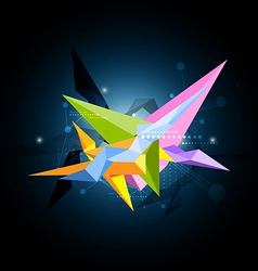 abstract science shape design vector image