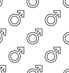 Male symbol seamless pattern vector
