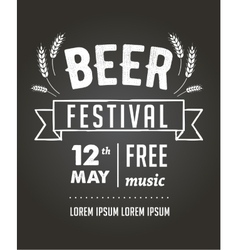 Beer festival black board event poster vector