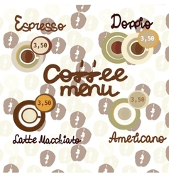 Coffee icon set menu for cafe bar shop vector