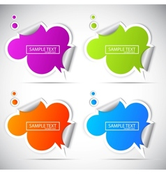 Paper cloud stickers for speech vector