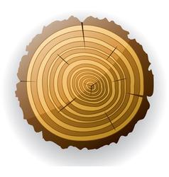 wooden cut clip-art vector image
