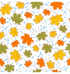 autumnal seamless background vector image