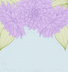 background with frame of dahlia flowers vector image vector image