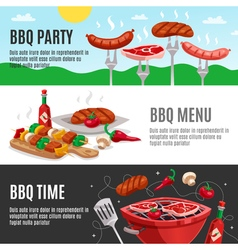 Barbecue menu banners set vector