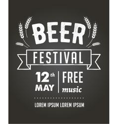 Beer festival black board event poster vector