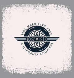Born to ride label vector