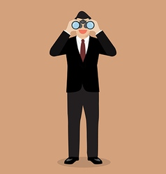 Businessman with binoculars vector
