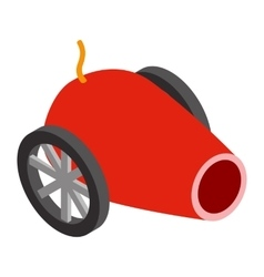 Circus cannon isometric 3d icon vector