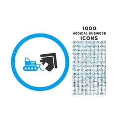 Demolition rounded icon with 1000 bonus icons vector