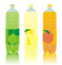 Drink bottles vector