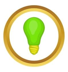 Eco light bulb icon vector