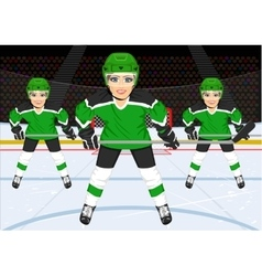 Female ice hockey team vector