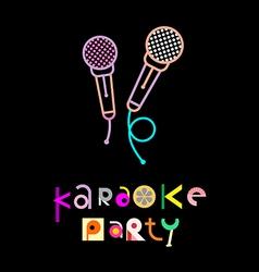 karaoke party vector image vector image