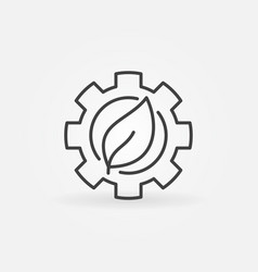 leaf in gear icon vector image