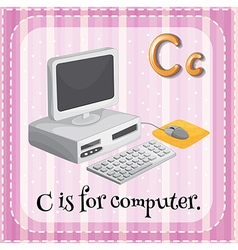 Letter C is for computer vector image