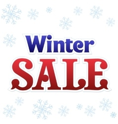 Lettering winter sale vector