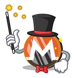 Magician monero coin character cartoon vector