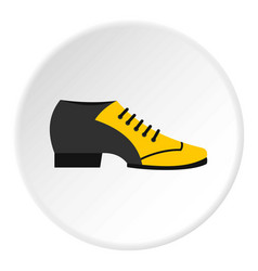 Male tango shoe icon circle vector