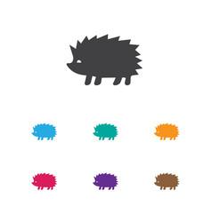 Of animal symbol on hedgehog vector