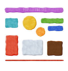 plasticine clay banners vector image