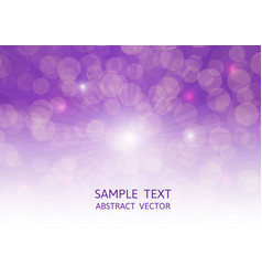 Purple bokeh abstract background with copy space vector