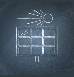 solar panel sketch on chalkboard vector image