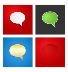 Speech bubble background set vector