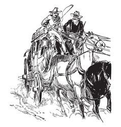 Stagecoach vintage vector
