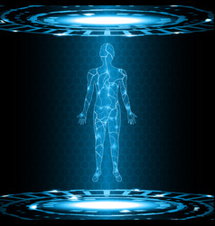 technology future electric current human body vector image vector image