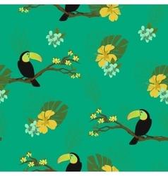 Watercolor birds seamless background vector