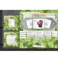 Website Design Template Menu Elements vector image
