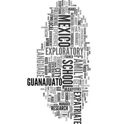 You want to move to mexico text word cloud concept vector