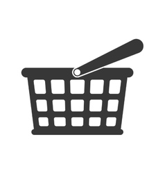 Shopping basket store commerce icon vector