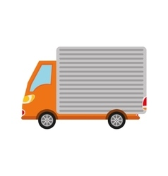 Truck vehicle transportation icon vector