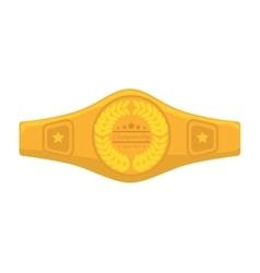 belt boxing sport championship vector image