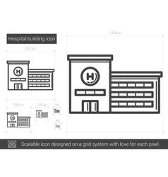 Hospital building line icon vector image