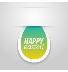 Happy easter tag vector