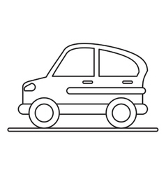 Car transport industry contamination icon vector