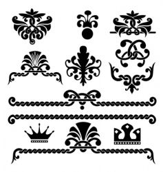 Gothic design elements vector