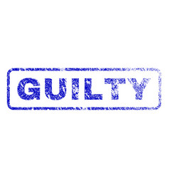 Guilty rubber stamp vector
