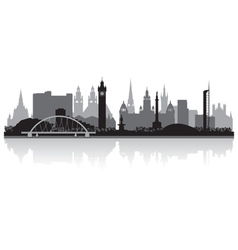 Glasgow city skyline silhouette vector