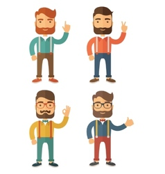 Hipster flat vector