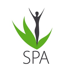 Logo silhouette of a girl for spa salon vector