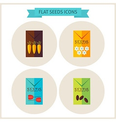 Flat agriculture seeds website icons set vector