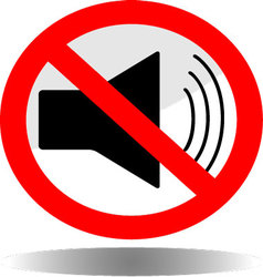 Sign icon ban sound vector