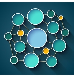 Infographics colorful circles and lines network vector