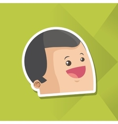 Icon of man cartoon design vector